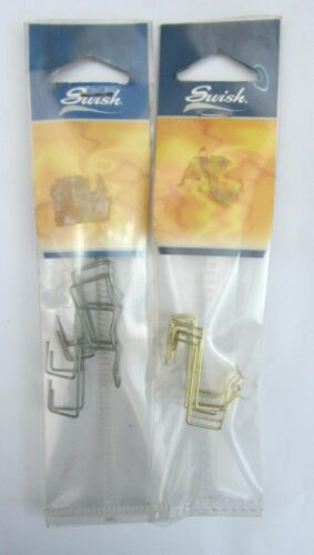 4 ganci supporto x bacchette x tende senza forare infissi tasca stretta LEGGERO