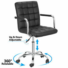 Office Chair Midback Adjustable Home Computer Executive Chair 360 Swivel Black