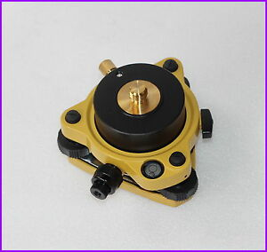 Yellow-Topcon-type-Tribrach-W-Optical-amp-Rotating-Adapter-5-8-034-x11-Mount-GPS-Lock