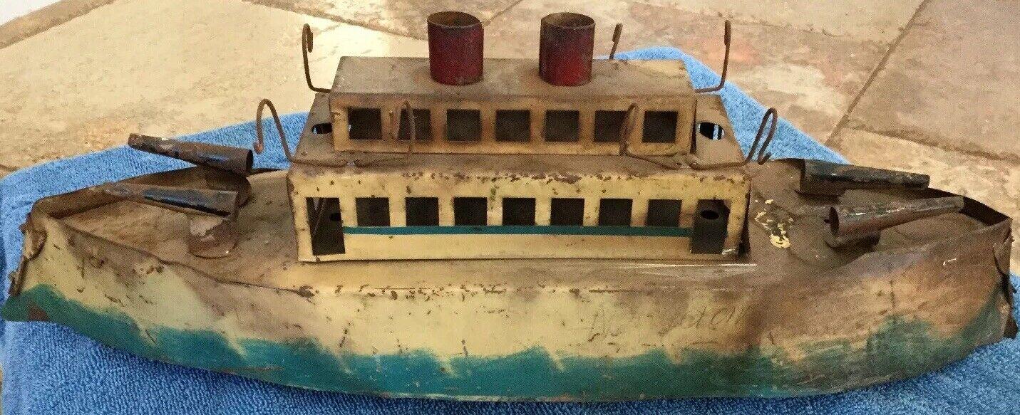 Dayton Little Jim Steamship Battleship 1920s Navy Tin Rare Zeppelin