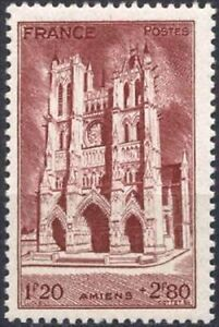 FRANCE-STAMP-TIMBRE-N-665-034-CATHEDRALE-D-039-AMIENS-034-NEUF-xx-LUXE