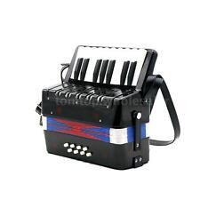 17 Key 8 Bass Mini Small Accordion Musical Rhythm Band Kids Toy Black New L3U0