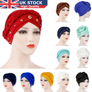 UK-Women-Lady-Muslim-Dichroic-Braid-Head-Turban-Wrap-Cover-Cancer-Chemo-Cap-Hat