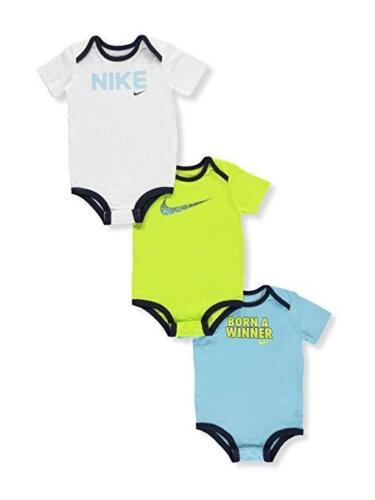 Nike Air Jordan Baby Boys/' 3 pack short sleeve bodysuits