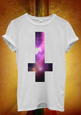 Inverted Cross Galaxy Tumblr Hipster Men Women Unisex T Shirt Tank Top Vest 437
