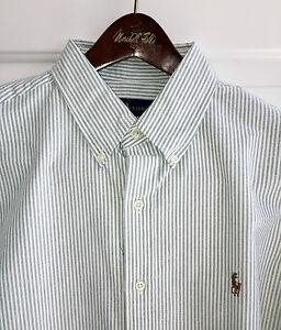 Ralph lauren mens long sleeve cotton dress shirt green for Mens 2xl tall shirts