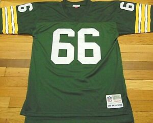 Details about MITCHELL & NESS NFL GREEN BAY PACKERS RAY NITSCHKE REPLICA JERSEY SIZE L 44