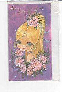 Carte Bonne Fete Fille.Details About Carte Bonne Fete Neuve 10 Cm X 18 Cm Decor Fille Blonde Yeux Vert Des Roses