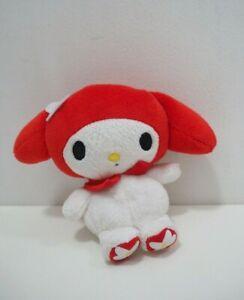 "My Melody Sanrio Kuromi Furyu 2010 Beanie Plush 5"" Stuffed Toy Doll Japan"
