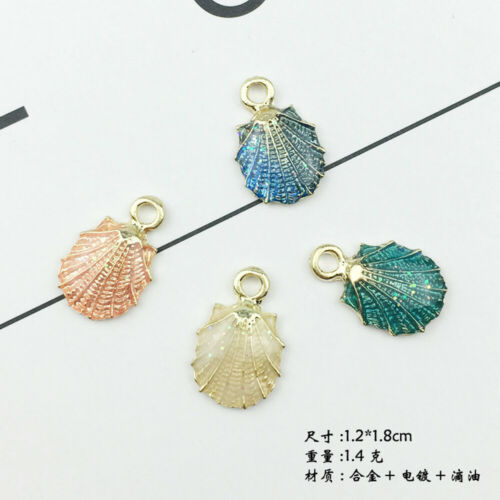 13 Pcs Set Mixed Starfish Conch Shell Metal Charms Pendants DIY Jewelry Making