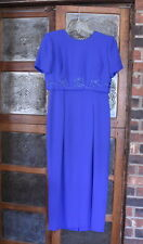 Donna Morgan Blue Short Sleeve Formal Dress Size 6