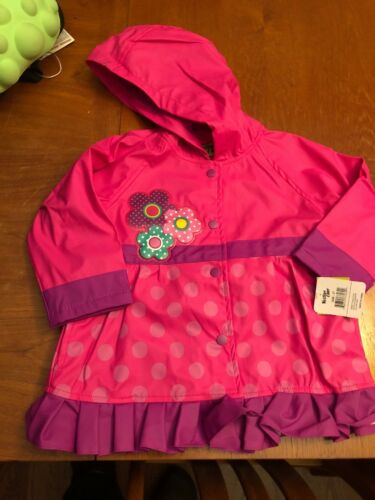 3T Western Chief Kids Soft Lined Character Rain Jackets Flower Cutie