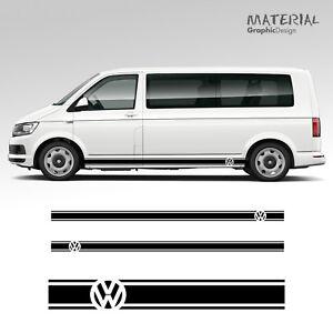 Volkswagen-VW-Transporter-Side-Stripe-Decals-T4-T5-T6-Campervan-Vehicle-Graphic