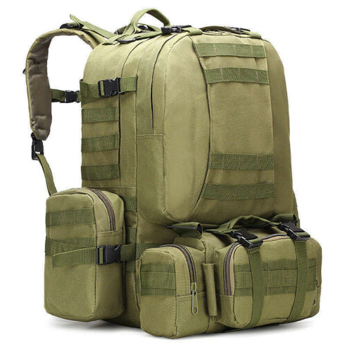 50L Outdoor Military Molle Tactical Backpack Rucksack Camping Bag Travel Hiking