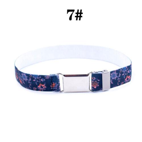 ids Children Boys Girls Wide Elastic Stretch Waist Belt Waistband Accessories
