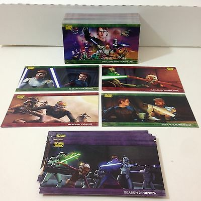 STAR WARS: THE CLONE WARS ALL-WIDEVISION Complete Card Set Topps 2009 80//8PV