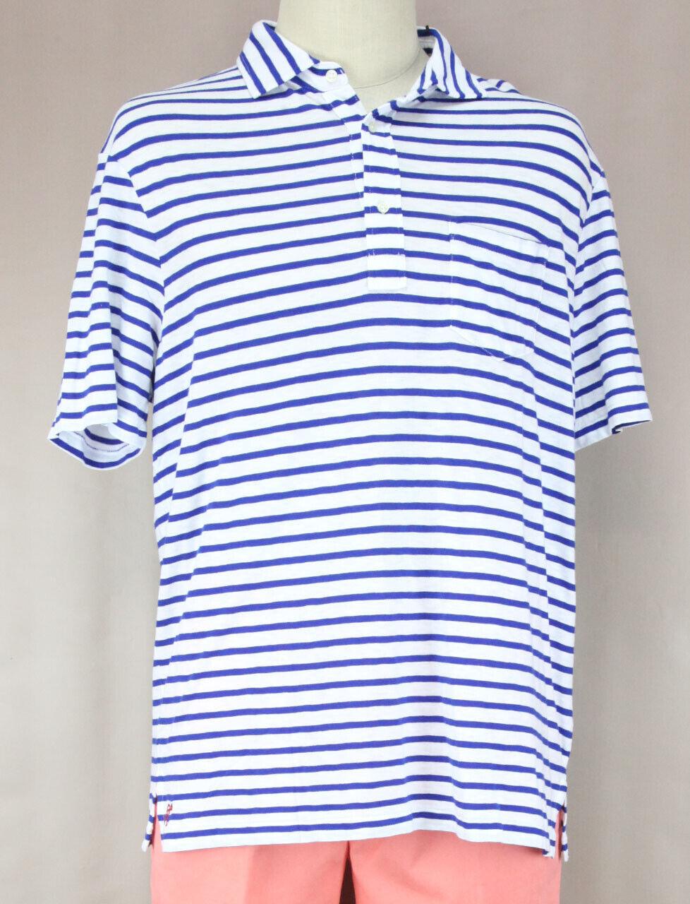 Polo Ralph Lauren Uomo Blu Navy & Bianco Polo a Righe Ret