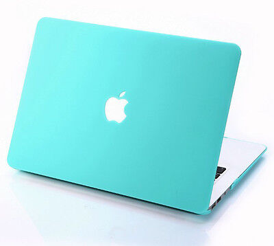 Turquoise Matt Rubberized Hard Case For Macbook Air Pro 11'' 13'' 15 '' inch