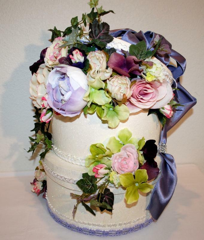 Beautiful floral mariage carte Box