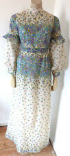 Vintage 1960s 60s 70s Hippy Boho Handmade Maxi Dress Size 8