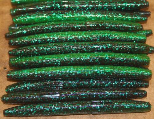 "4/"" Stick Senko Style Sour Grape 100 count bag Bulk Bass Plastic Worm"