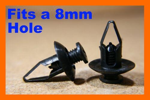 Pour KIA 10 Vis Fixations Clips 8 mm Passage De Roue Panneau Porte Carte Mud Guard