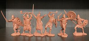 Publius Anglo-Saxons Vikings Normands Toy Soldiers Publius 1:32 Caoutchouc Plastique