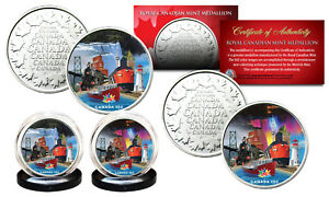 CANADA-150-ANNIVERSARY-Rendition-2017-Loonie-Dollar-on-RCM-Medallions-2-Coin-Set