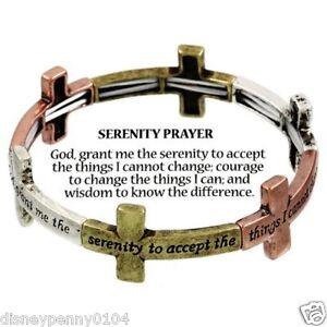 Serenity-Prayer-Stretch-Bracelet-Tri-Tone-CROSS-Prayer-Card-included-3-4-034-W