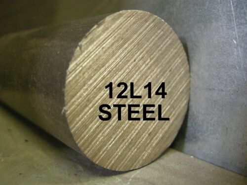 "12L14 1-1//2/"" x 12/"" ROUND BAR STEEL STOCK FOR SOUTH BEND LATHE CNC MACHINE SHOP"