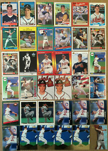 Tom-Glavine-LOT-of-36-Rookie-RC-insert-base-cards-HOF-NM-1988-99-Atlanta-Braves