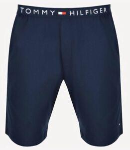 Tommy-Hilfiger-Herren-Jersey-Hausanzug-Shorts-in-Navy-Blazer