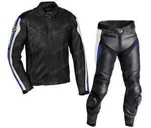 BMW Courses Combinaison de Moto en Cuir Hommes BMW Moto en Cuir Veste Pantalon