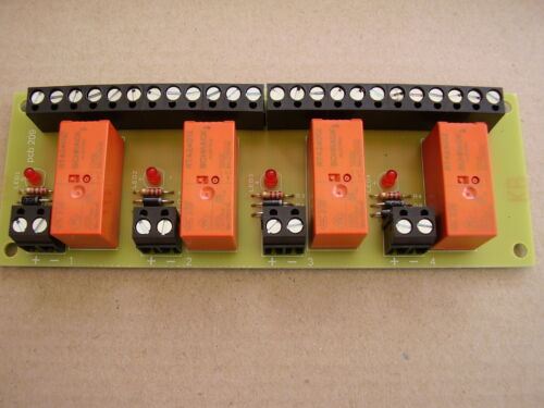 Handy 4 way relay Board 12v DC operation