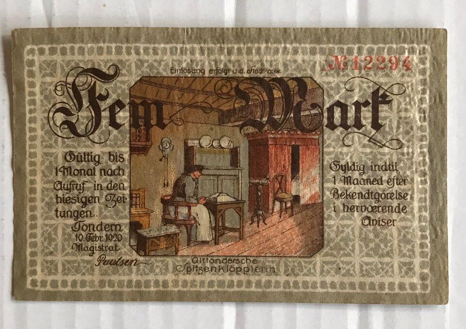 Danmark, sedler, 5 Mark