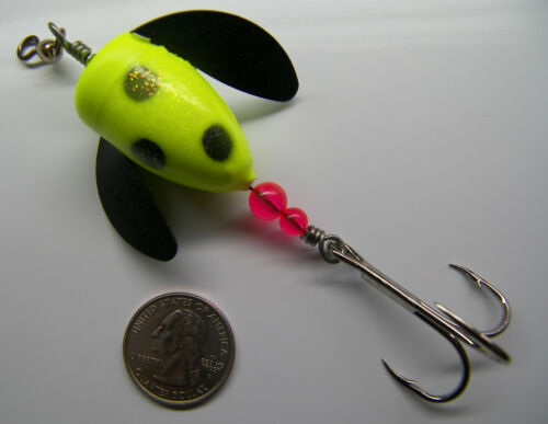 Wordens Spin N Glo saumon HD Pro Series Spinner Leurre Eagle Claw Mustad très Comme neuf CONDITION