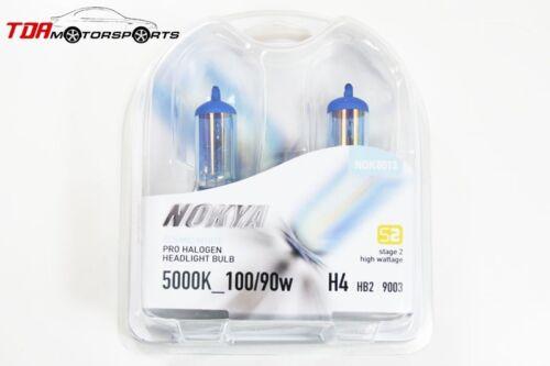NOKYA Halogen Light Bulbs H4 HB2 9003 Cosmic White 5000K 100//90W