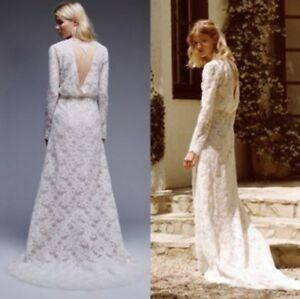 NWT $3000 Stone Cold Fox Chloe Wedding Gown Size 2 White Lace W ...