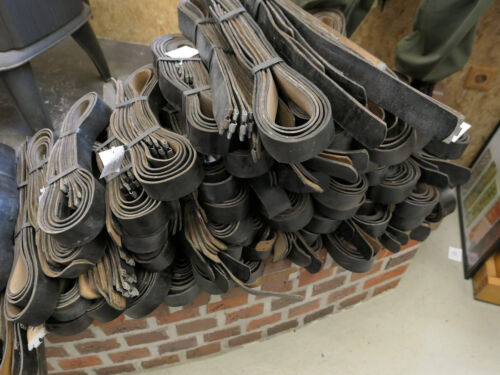 100cm Lederkoppel Koppelriemen für Kasten Koppelschloss Wehrmacht Koppel