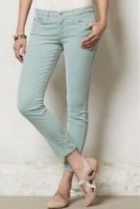 AG-ADRIANO-GOLDSCHMIED-The-Stevie-Slim-Straight-Ankle-Jeans-Sz-26r-Mint-Green