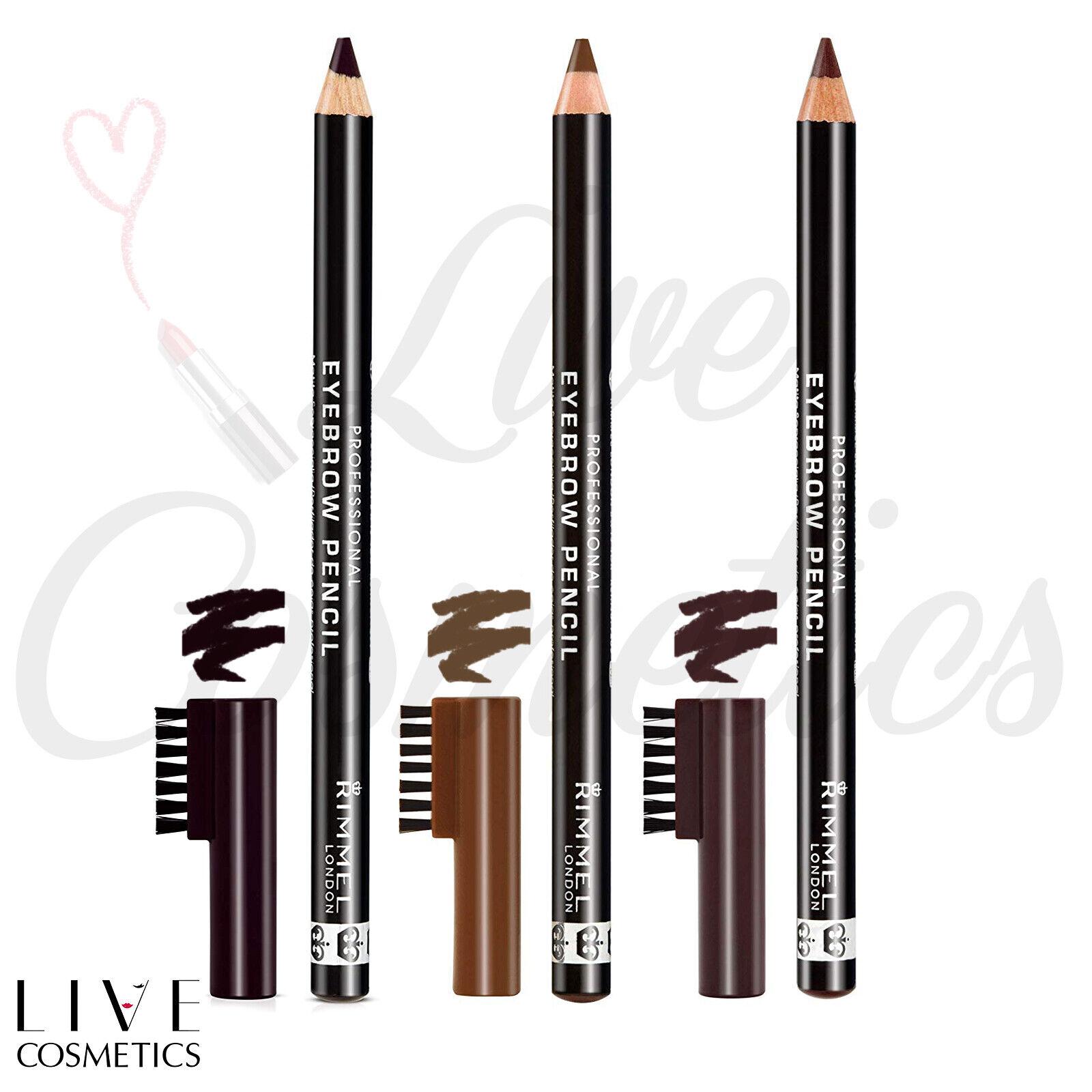 Rimmel Professional Eyebrow Pencil With Brush *DARK BROWN/ HAZEL/ BLACK BROWN* £2.14 @ eBay