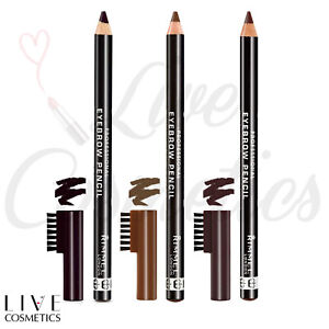 Rimmel Professional Eyebrow Pencil With Brush *DARK BROWN/ HAZEL/ BLACK BROWN*
