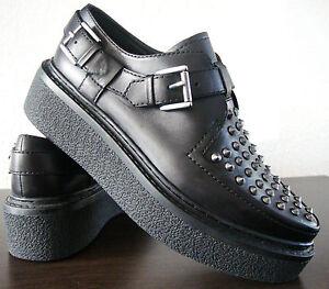 in da Rivetti donna Sneaker Nuovo Nero Ash Shoes 37 pelle Plateau Gr Slipper Oxfords XUZ8ZR