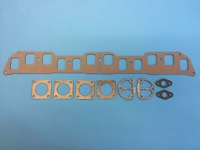 Daimler DE27 /& DE36 Exhaust Manifold Stiffening Plate /& Downpipe Flange Gaskets