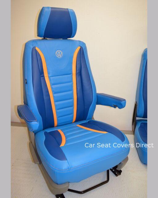 55 SPEC TO FIT A VW TRANSPORTER T5 VAN SEAT COVERS ORANGE // BK BENTLEY D