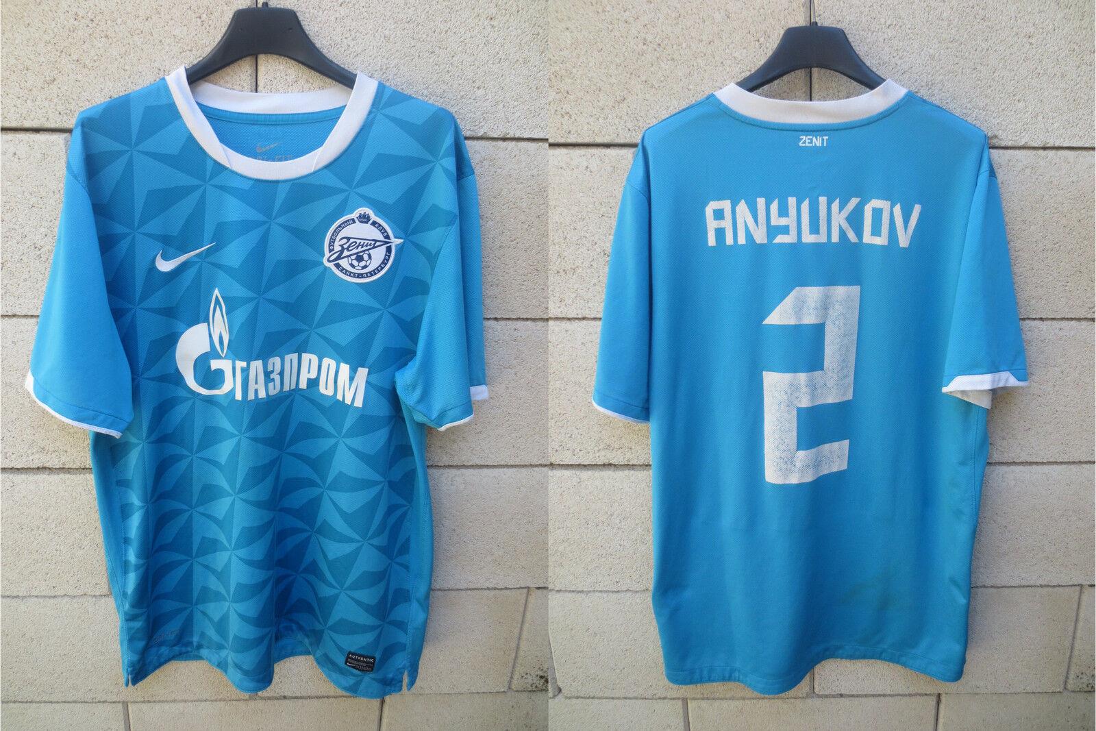 c8a1ae559ea Maillot ZENIT ST PETERSBURG shirt trikot ANYUKOV n°2 football Russie blue L  NIKE nuzhkn5056-Clubs russes