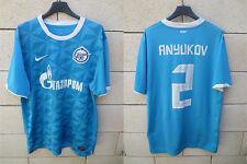 Maillot ZENIT ST PETERSBURG NIKE shirt trikot ANYUKOV n°2 football Russie bleu L
