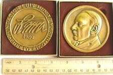 Medalla Fundacion LUIS MUNOZ MARIN Puerto Rico 1/200 HUGE 9oz 70mm Sold out! PPD