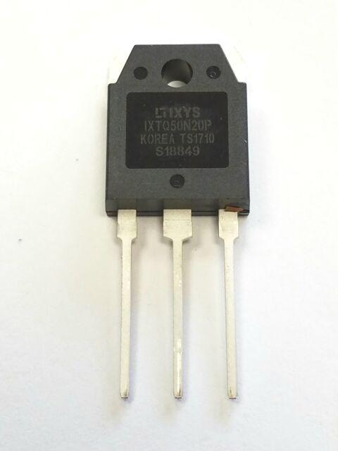 1 PIECE OF IXTQ50N20P Transistor N-MOSFET unipolar 200V 50A 360W TO3P IXYS