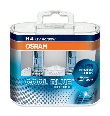 10 Headlight Bulbs Headlamp H4 Osram Cool Blue Intense CHEVROLET SPARK M300
